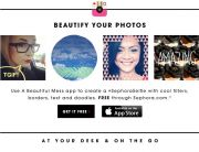 Sephora: Beautify Your Photos (Social Engagement Email)