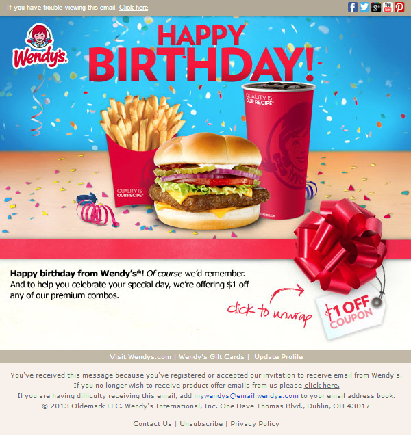 What Restaurants Offer Free Food On Your Birthday