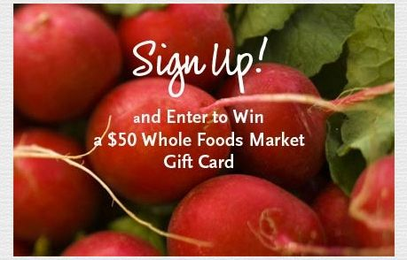 Whole Foods Market (Newsletter Signup Promotion Example)