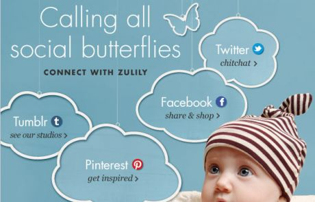 Zulily: Calling All Social Butterflies (Social Engagement Email)