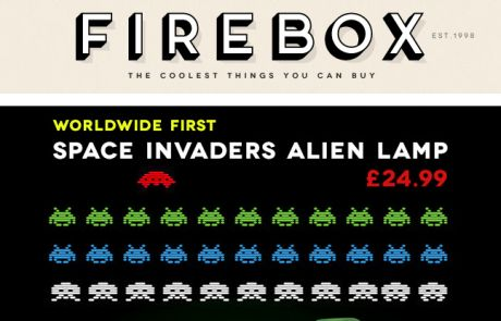 "Firebox Standout Subject Line (""Space Invaders Alien Lamp"") - September 28, 2013"