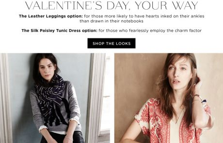 "Madewell Standout Subject Line (""Decisions Decisions"") - February 2, 2014)"