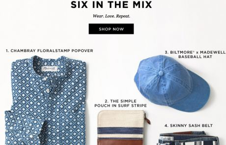 "Madewell Standout Subject Line (""Repeat outfit syndrome"") - February 6, 2014"