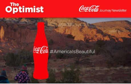 Coca Cola Journey Standout Subject Line - February 5, 2014 - America is Beautiful