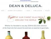 Dean & DeLuca Standout Subject Line - Oil-vey - November 11, 2013