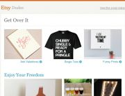 "Etsy Standout Subject Line (""Love Stinks"") - February 14, 2014"