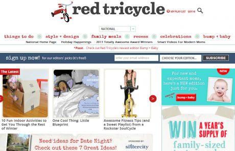 Red Tricycle Newsletter Signup