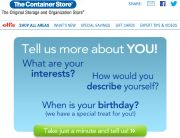 The Container Store Subscriber Detail Request