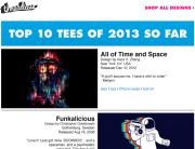"Threadless Standout Subject Line (""Top 10 Designs of 2013"") - September 26, 2013"